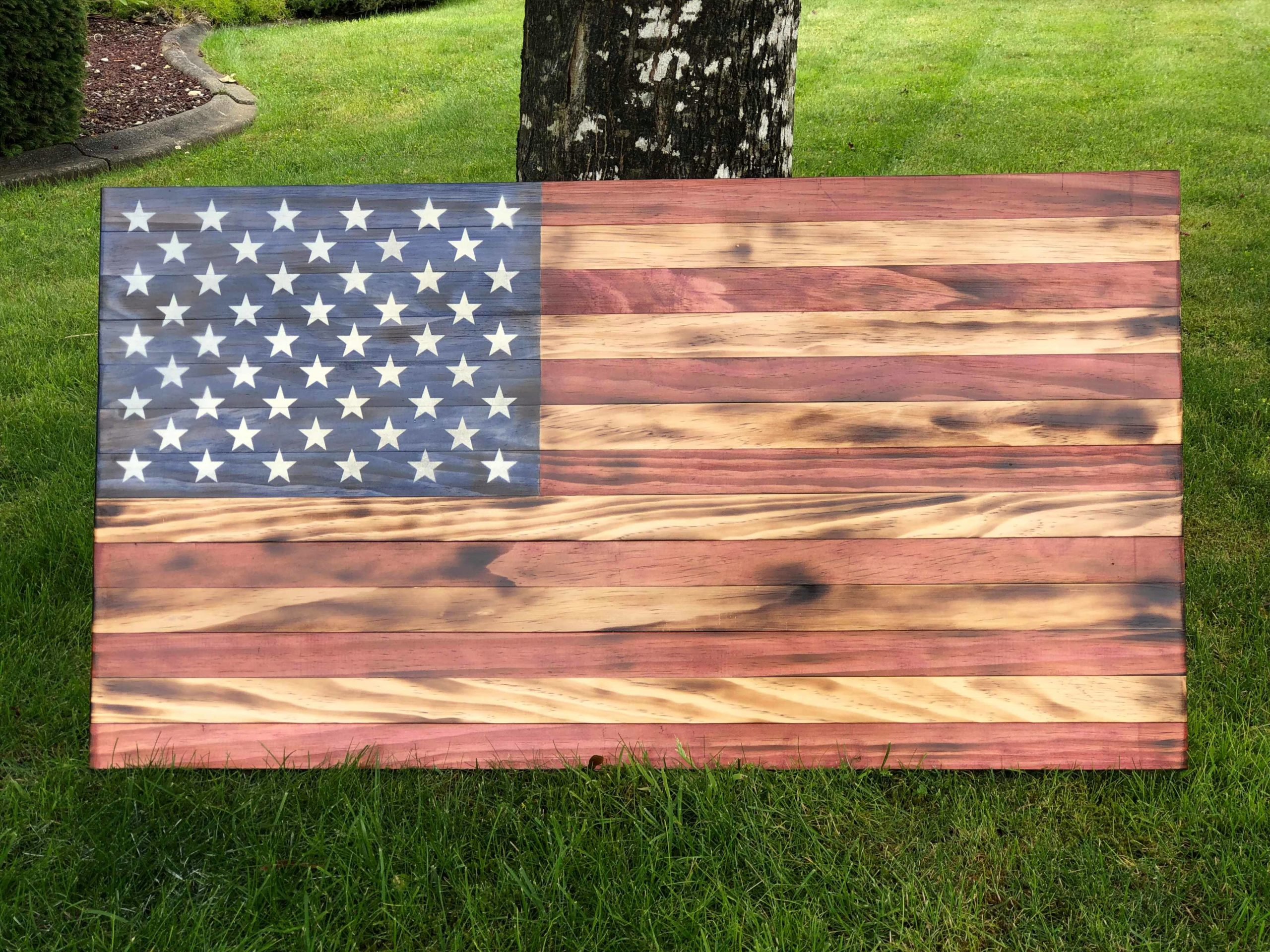 wwkd 2019 luau auction wood american flag